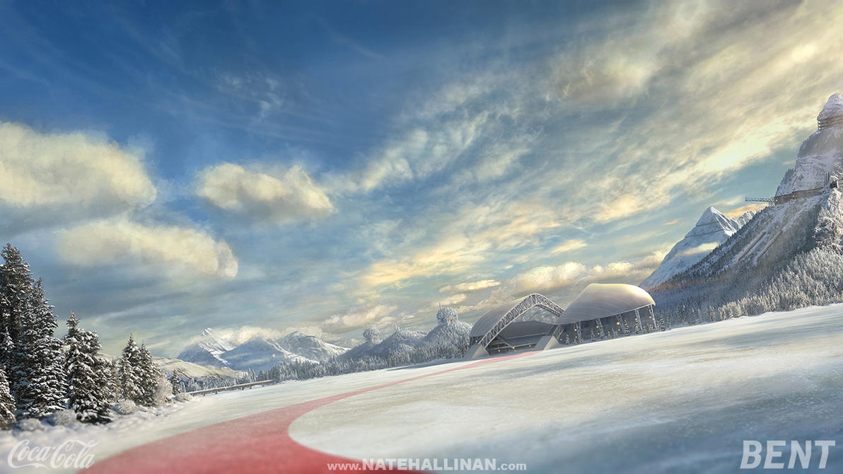 Coke Russia - Frozen lake by NateHallinanArt