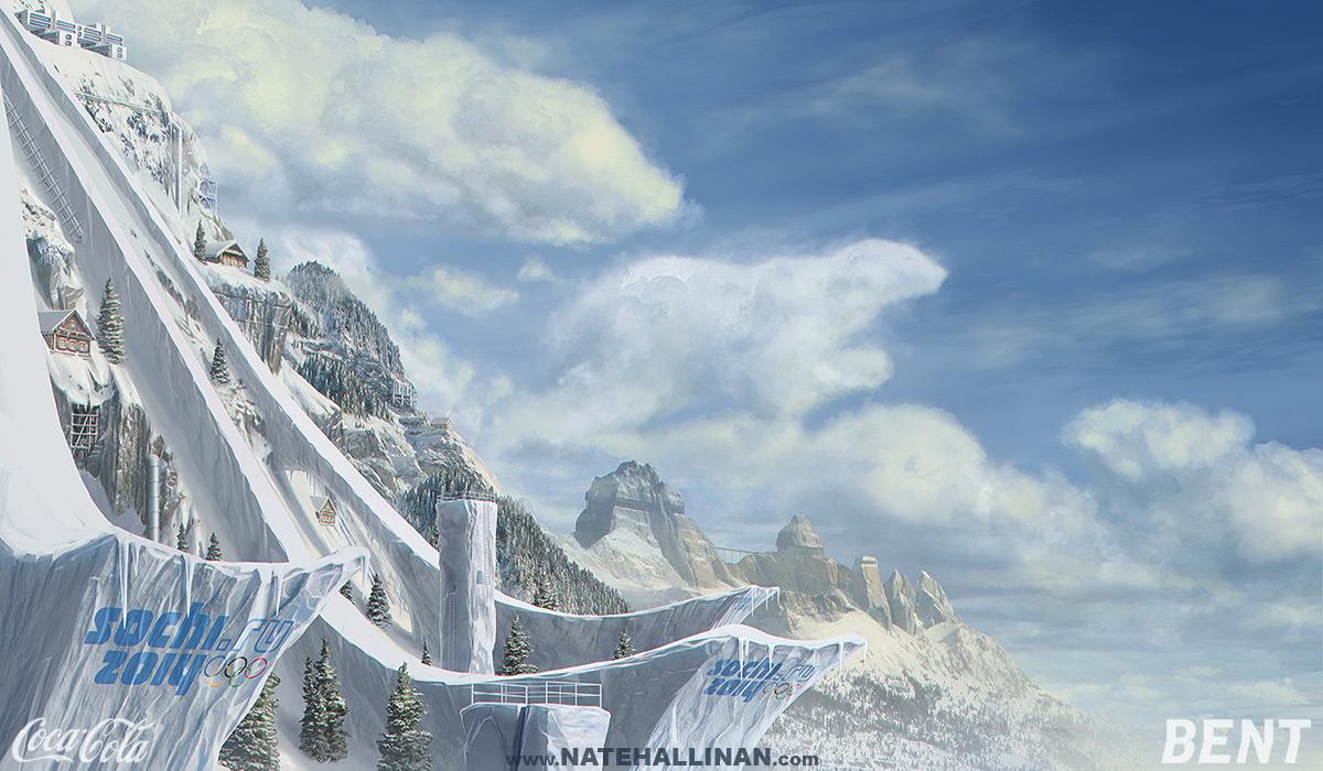 Coke Russia - Ski Jump by NateHallinanArt