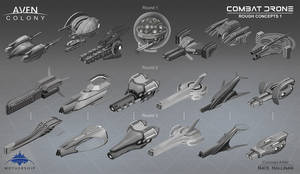 Combat  Drone Thumbs 1 by NateHallinanArt