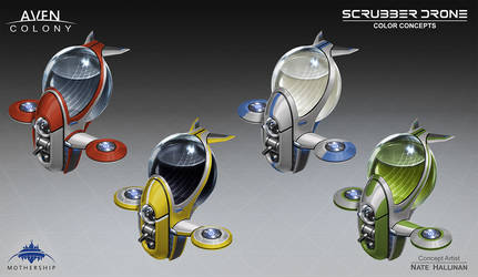 Scrubber Drone Colors by NateHallinanArt