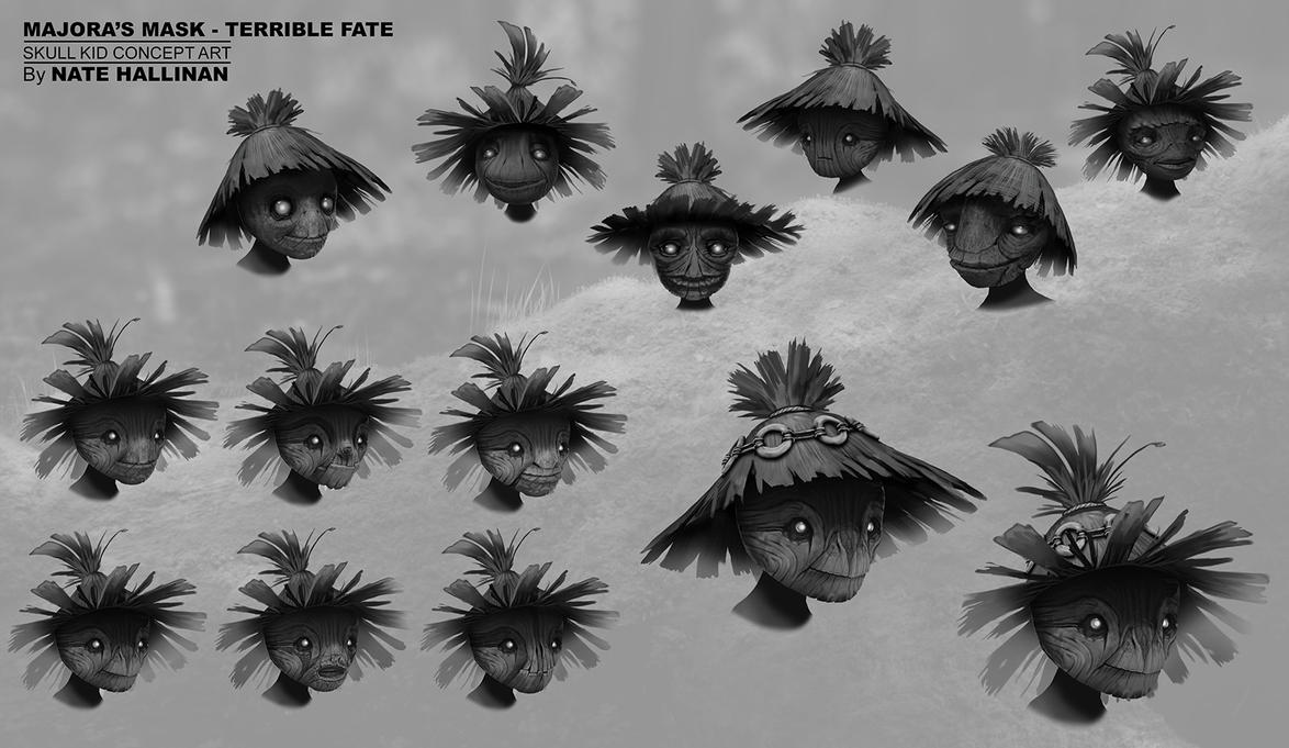 Skull Kid - Rough Face Designs by NateHallinanArt