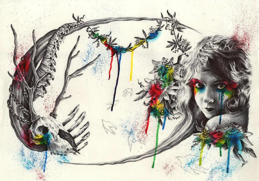 vida y muerte en color by Irina-Hirondelle