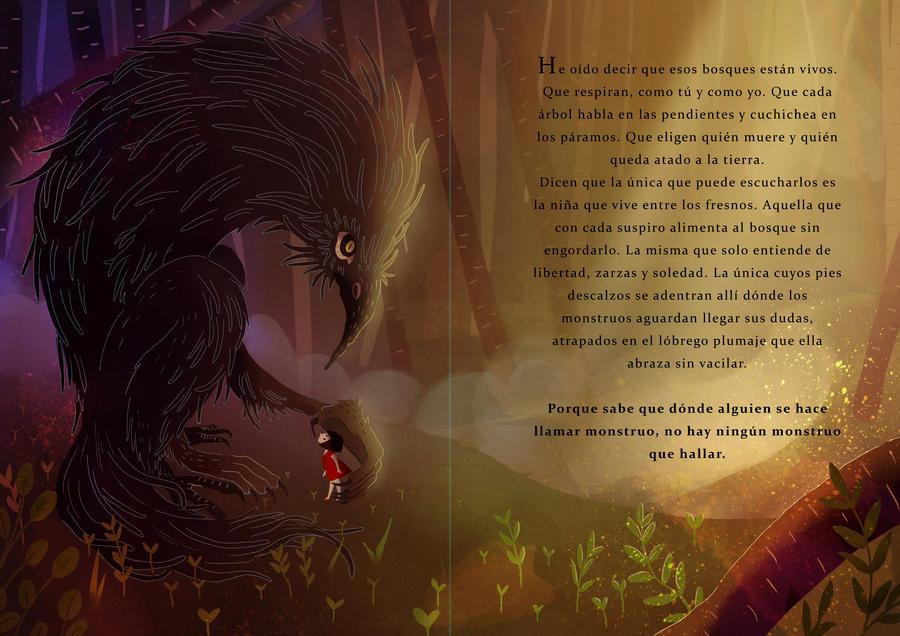 Monster tale illustration by Irina-Hirondelle