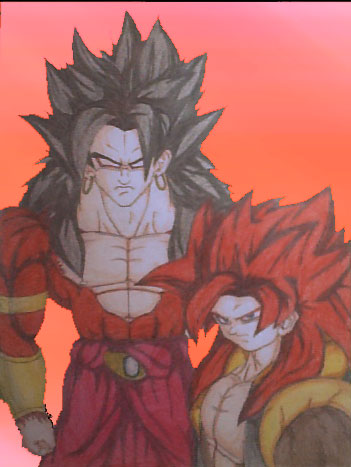Gogeta ssj4 vs Broly ssj4 by veguetto on DeviantArt