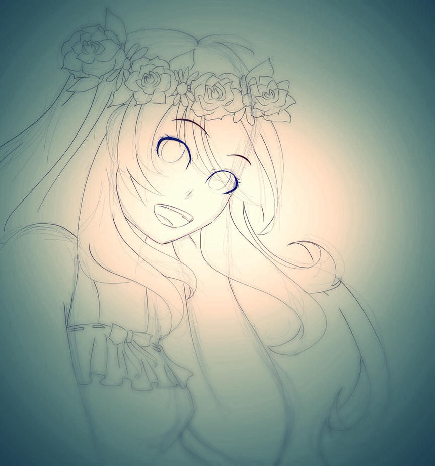 Flower girl by Oleannathefox