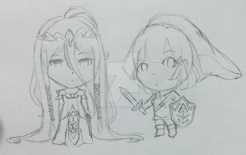 Link!Chiaki and Zelda!Izuru by Oleannathefox