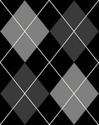Black and Grey Argyle Tile by EvilGirl333x2