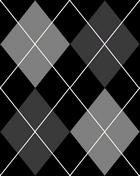 Black and Grey Argyle Tile by EvilGirl333x2
