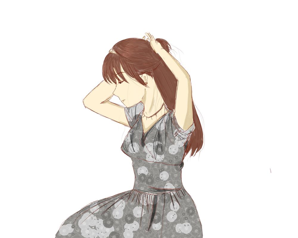 Practice (girl in dress) by vivime