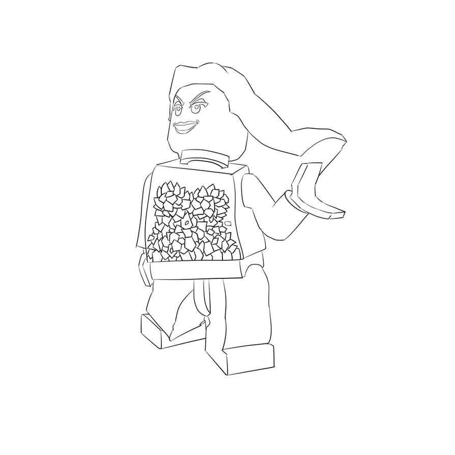 Lego Friends Olivia Coloring Page