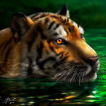 Tiger Realistic Painting