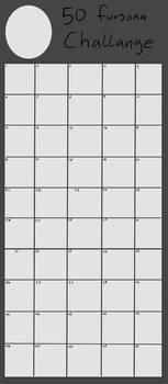 50 Fursona Challenge (blank)