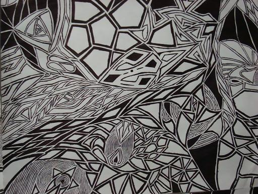 Line Art Design Abstract : Abstract line drawing by silentsigil on deviantart