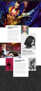 Download Fashionata Single Page Layout Website PSD