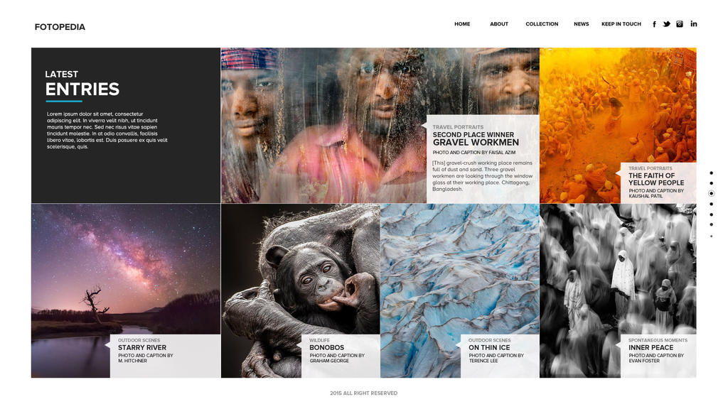 Download Free Fotopedia Photography Template PSD