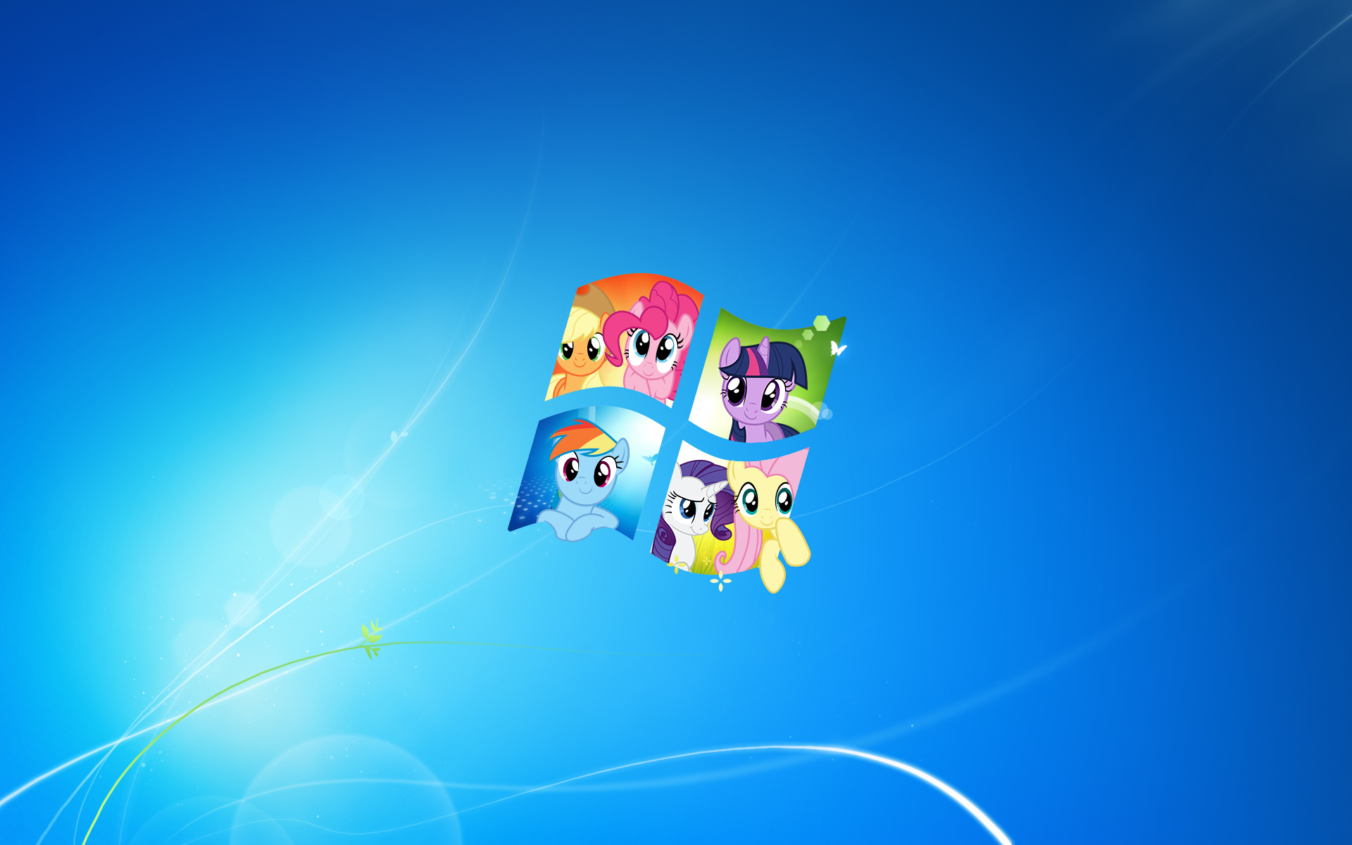 Windows Mane 6 Wallpaper 1920x1200 By FluttershyZ1