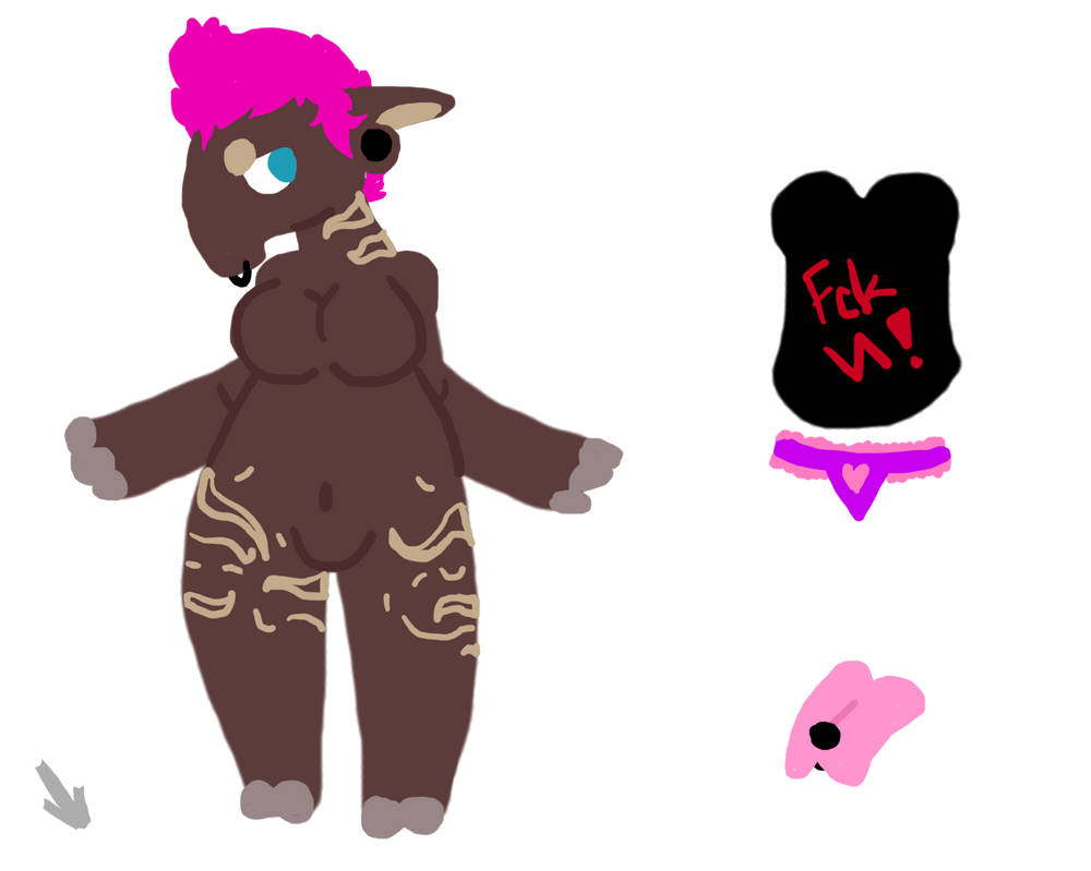 Punk Tapir Girl Auction SOLD! CLOSED! by Cataclasum