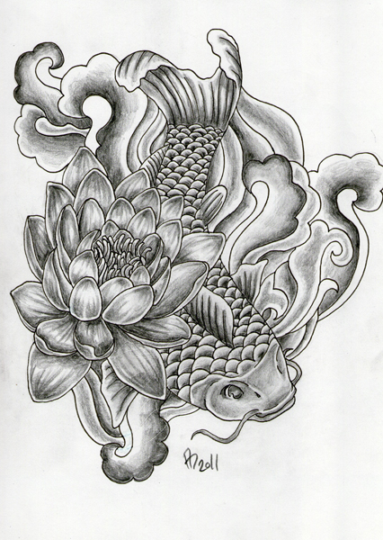 tattoo design koi by mai ja on deviantart. Black Bedroom Furniture Sets. Home Design Ideas