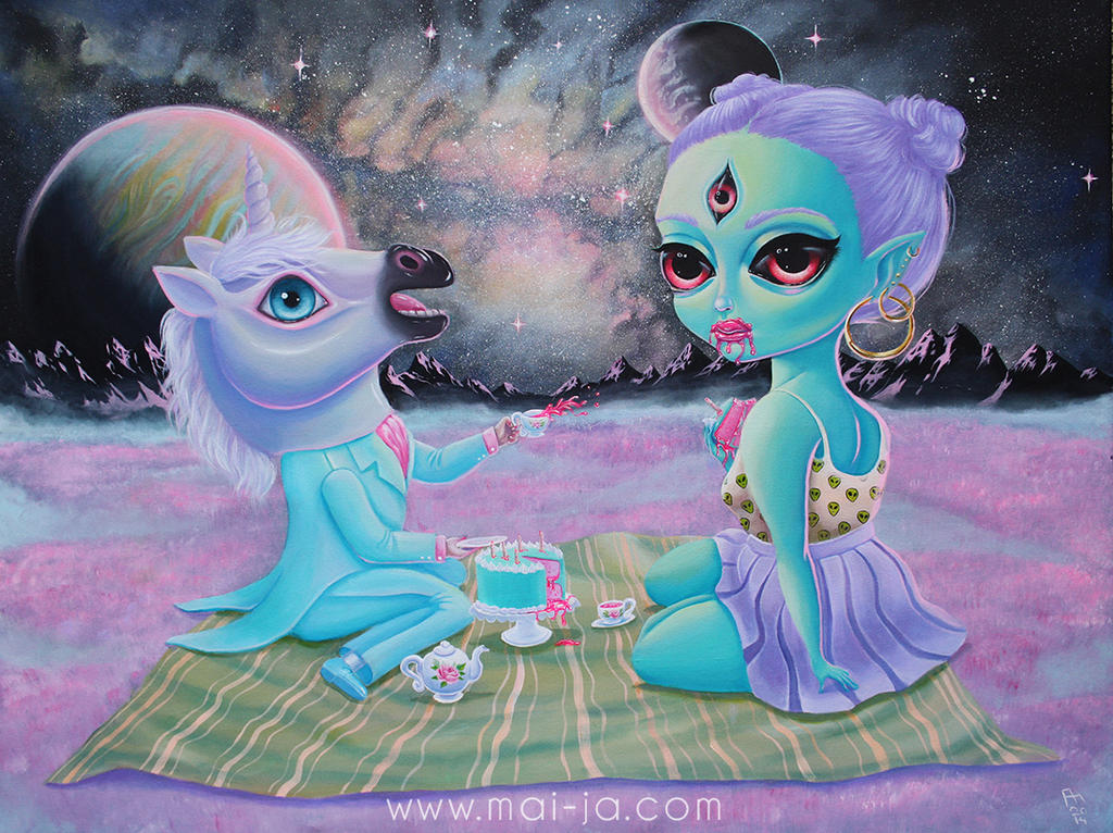 Galactic Picnic, 2014 by mai-coh