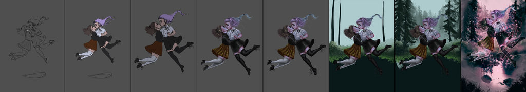 Witch's Kiss Process