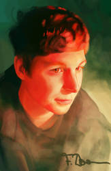 Micheal Cera Portrait by words-with-4-letters
