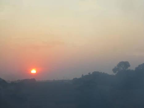 Sunset in Mist