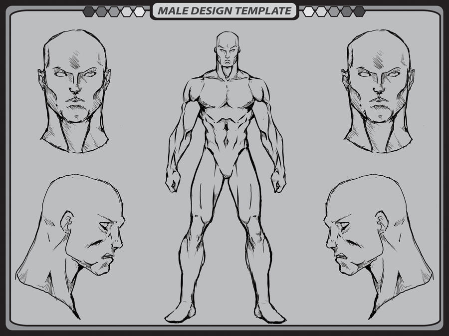 Male Template 2 by whiteknight222 on DeviantArt