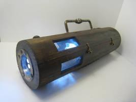 lampe torche steampunk