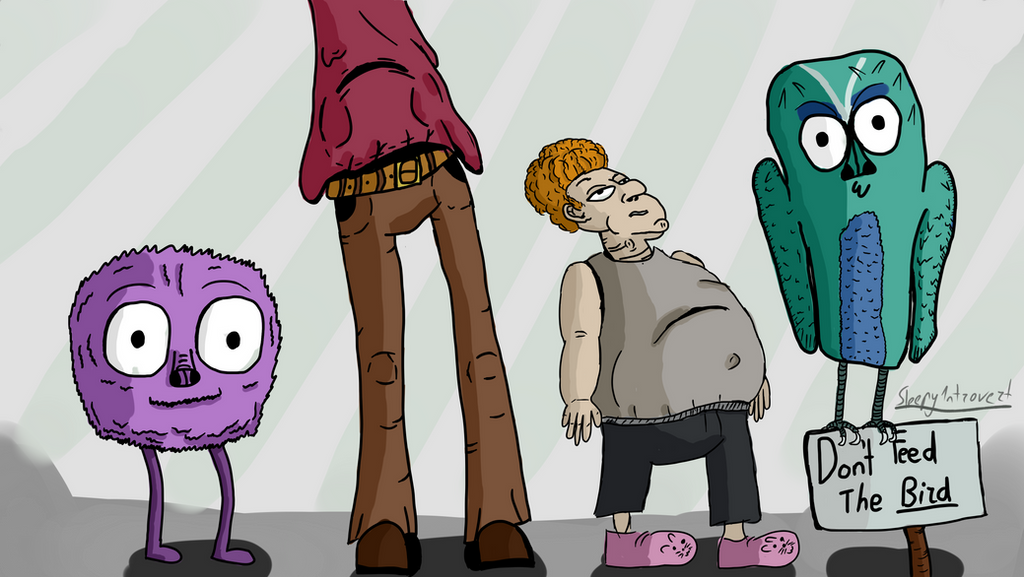 Random characters by Sleepy1ntrovert