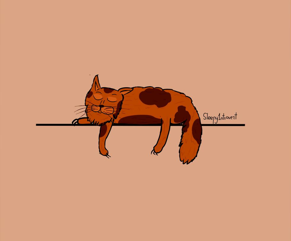 Sleeping Cat by Sleepy1ntrovert
