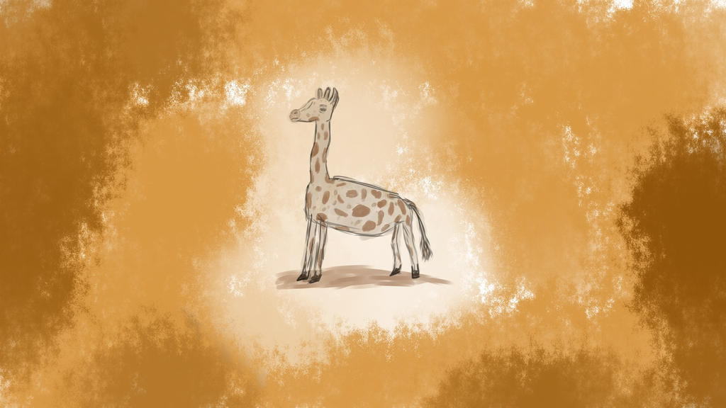 Giraffe by Sleepy1ntrovert