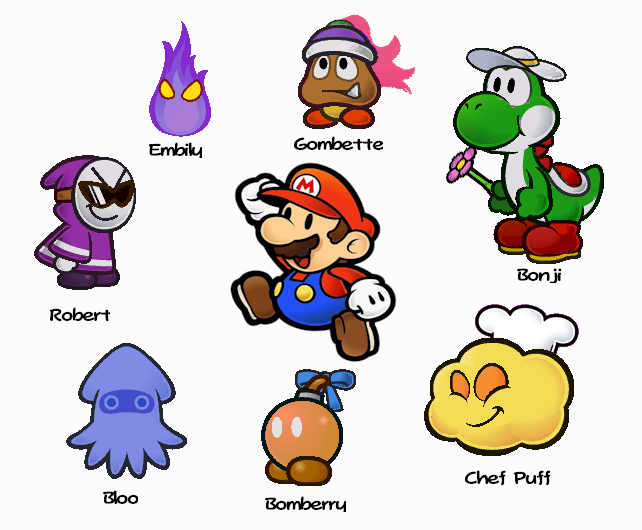 Paper Mario 64 Partners Paper Mario Partners by