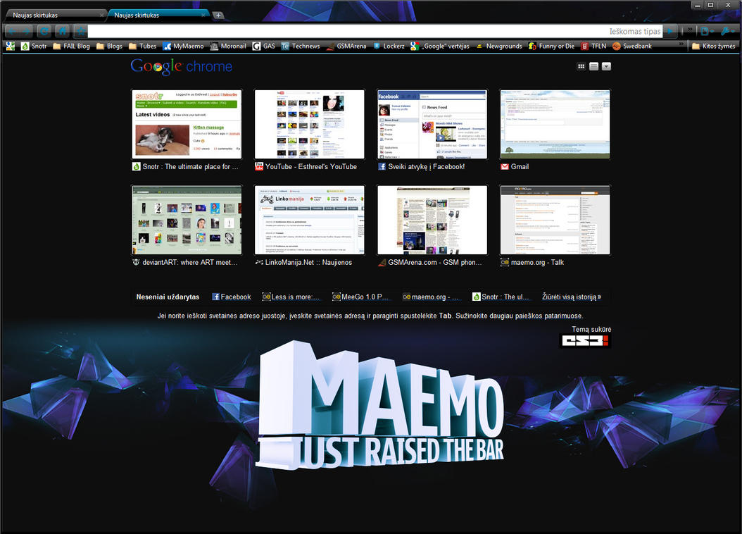 Maemo 5 for Chrome by ES3