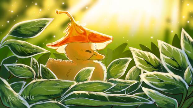 Little Flower Hat Duckling
