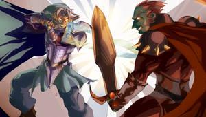 Super Fierce Deity Link Vs. Ganondorf