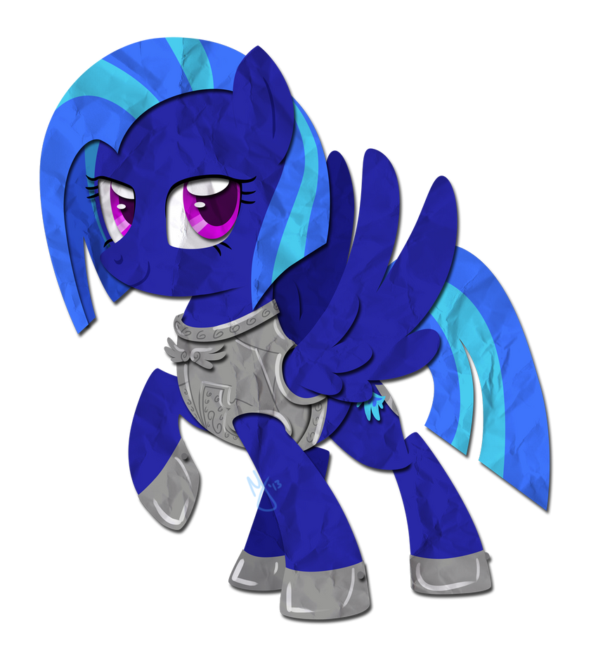 Paper Pony: Iron Wing by IEatedAUnicorn