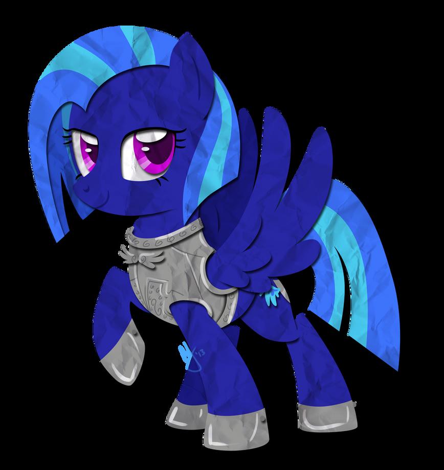 Paper Pony: Iron Wing by IEatedAUnicorn