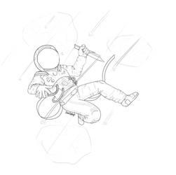 Astronaut - Lineart by DarkSplash0