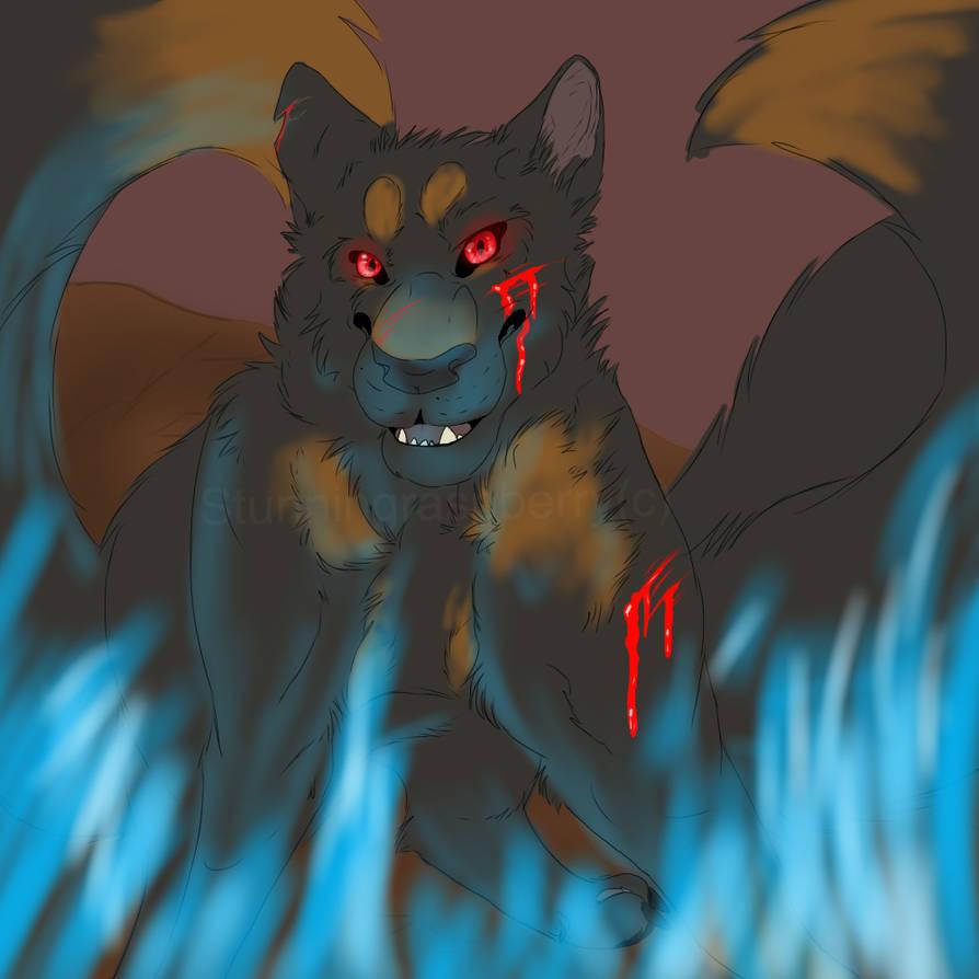 Blue flames by Sitronplante