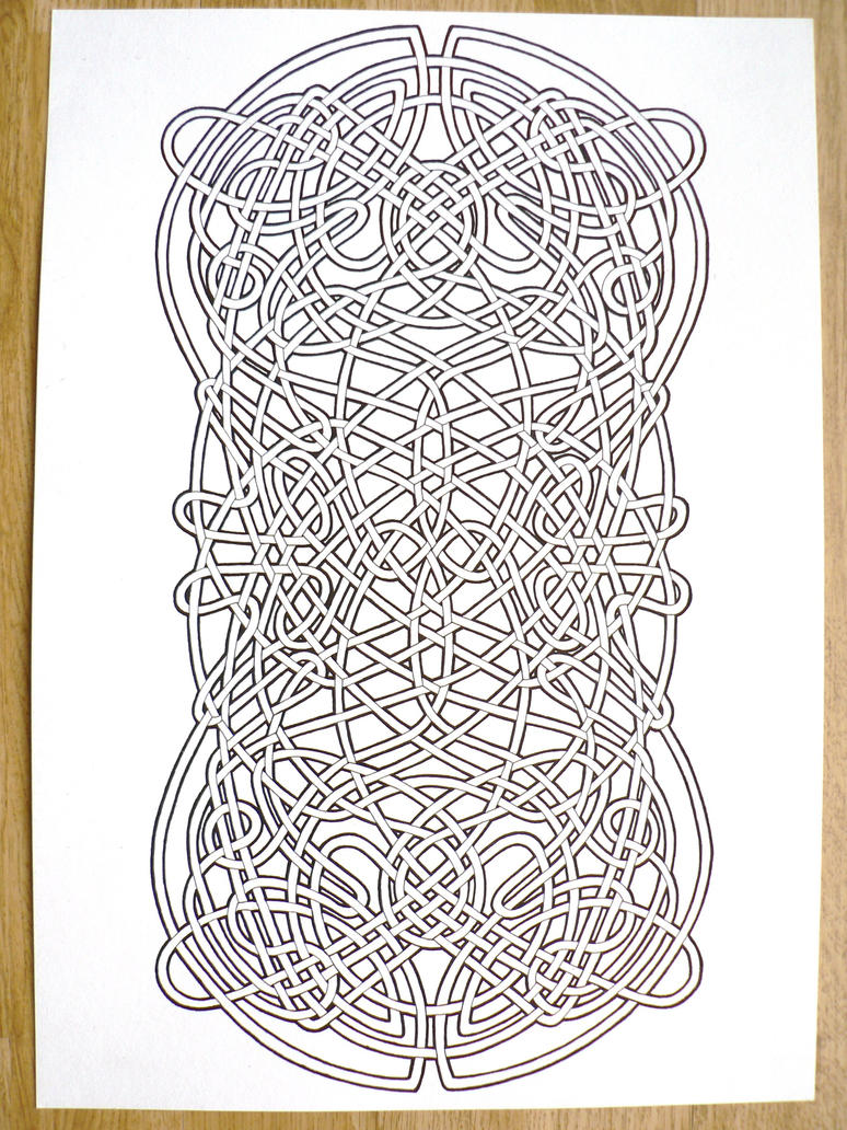 Celtic knot by mozdynamite on deviantart for Celtic knot mandala coloring page