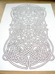 Celtic knot at an angle