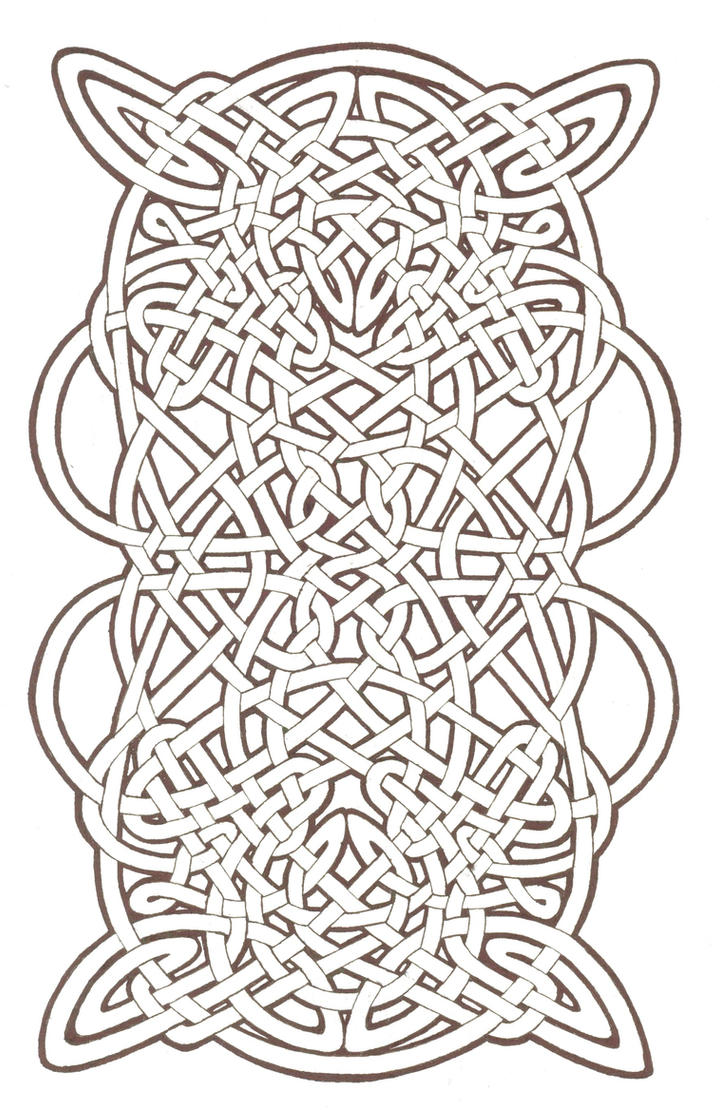 Pin Celtic Knotwork Coloring Pages Free Printable Tattoo