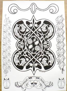 Floral celtic nouveau