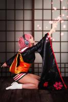 Super Sonico with yukata by JubyHeadshot