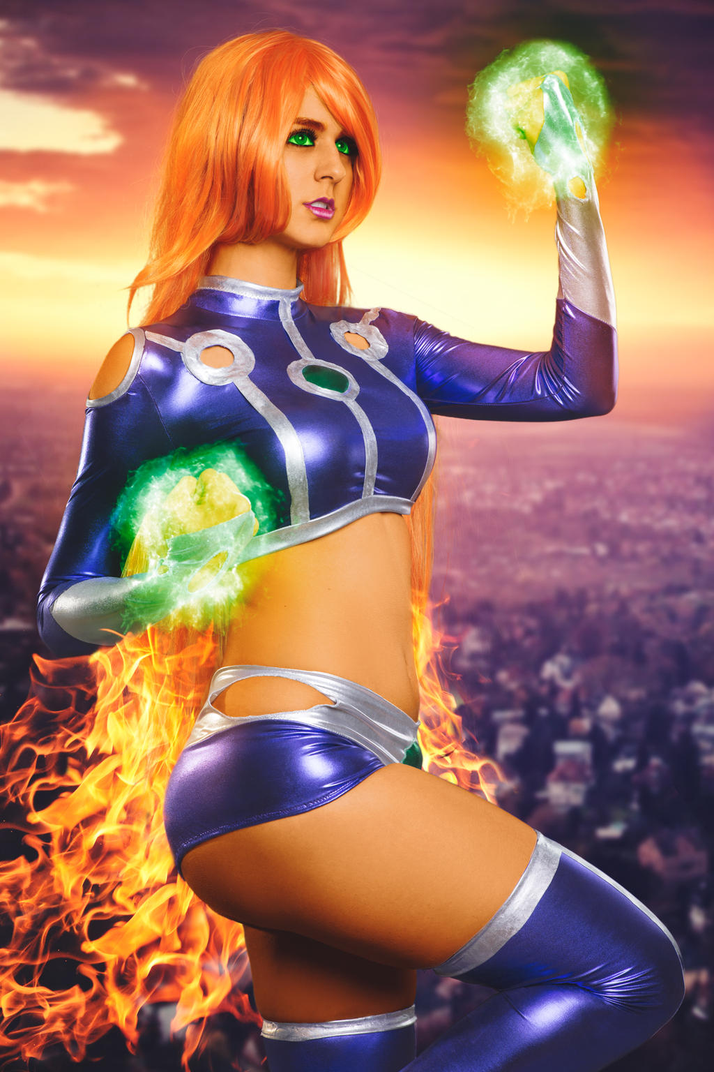 Starfire cosplay porn