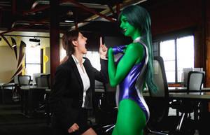 She Hulk and Jennifer Walters! by JubyHeadshot