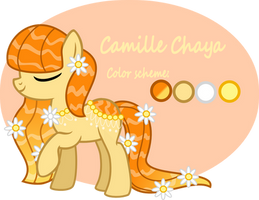 Camille Chaya (reference sheet) by FlowerDashie