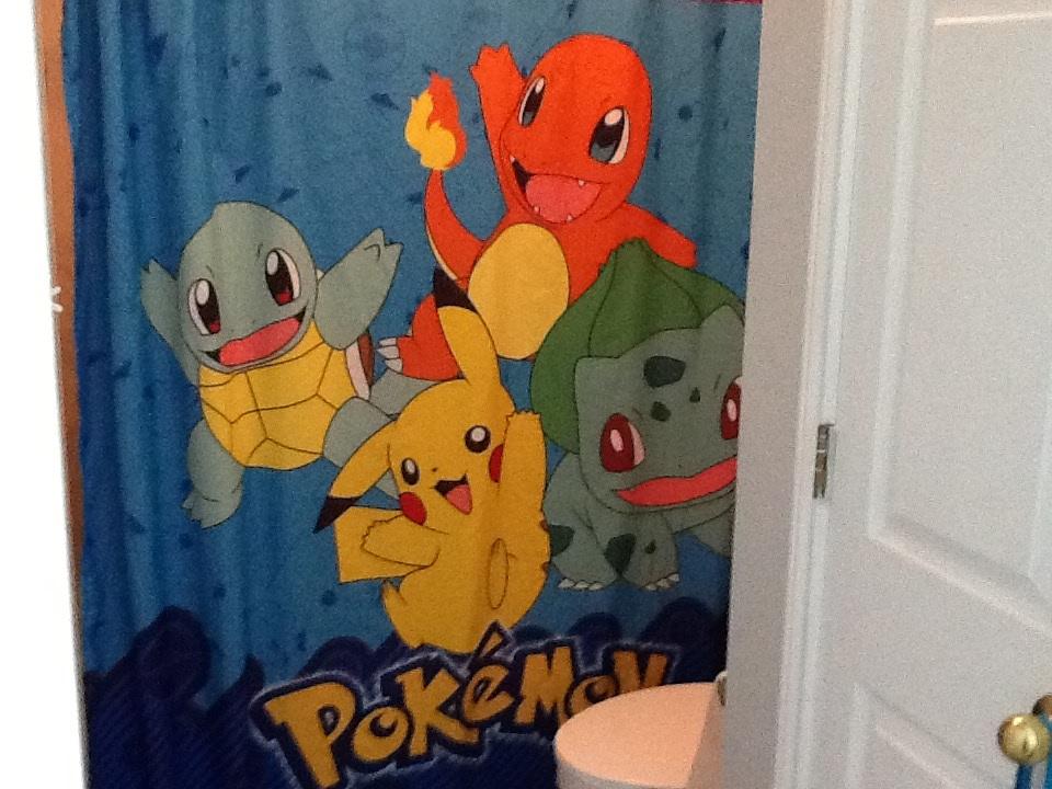 Pokemon Shower Curtain By CherryFungi