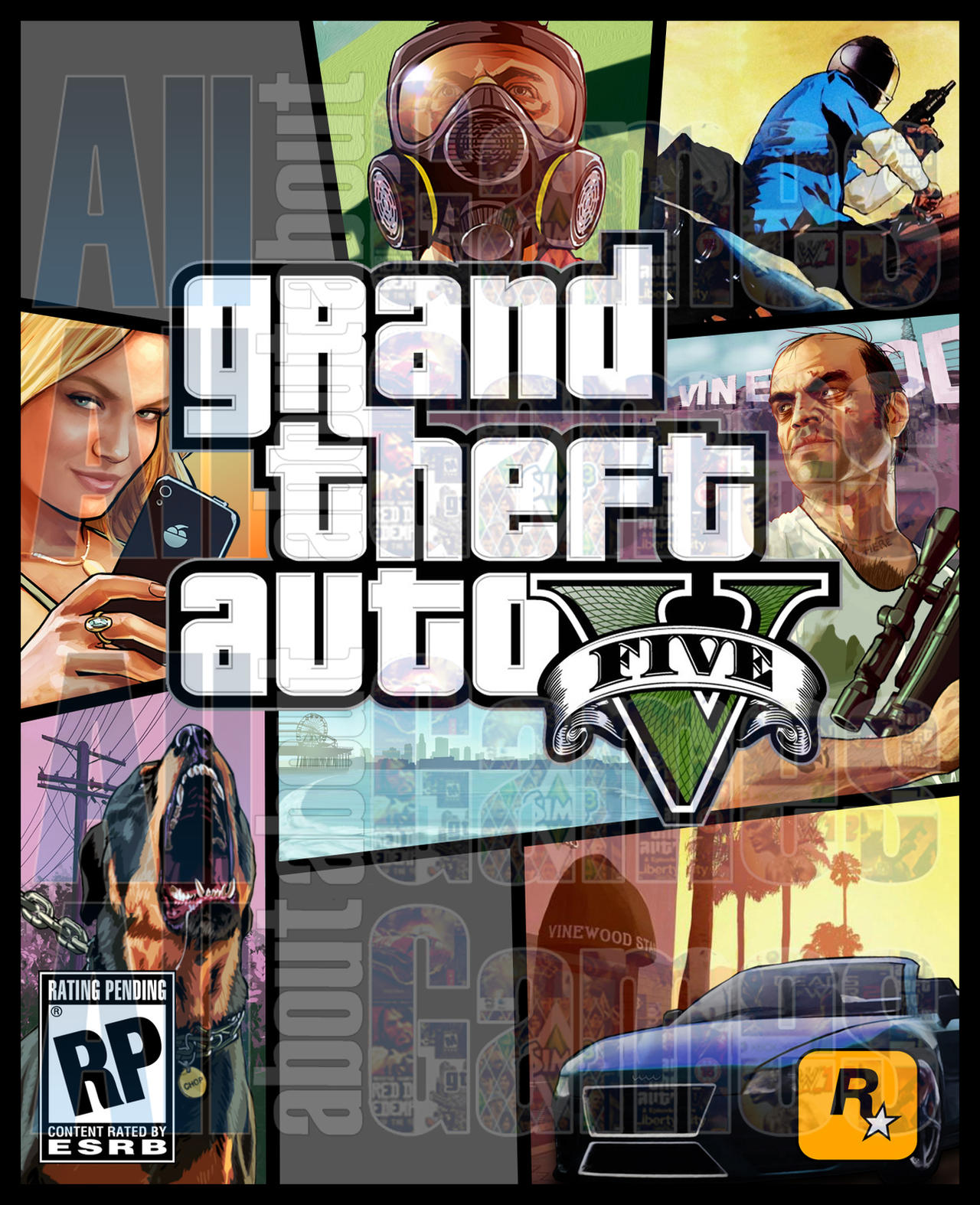 Grand Theft Auto V Cover ArtWIP(UPDATE 3) by eduard2009 ...