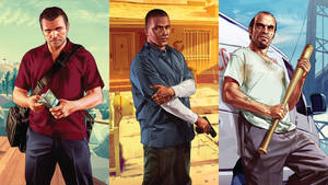 Grand Theft Auto V - Michael, Franklin, Trevor by eduard2009